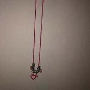 Accessories - Heart pink charm necklace